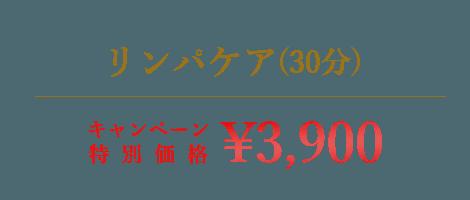 リンパケア(30分)|¥1900