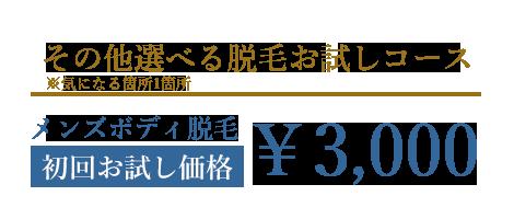 胸毛脱毛お試しコース|キャンペーン特別価格¥9,000