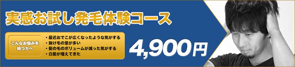 実感お試し発毛体験コース|4,900円